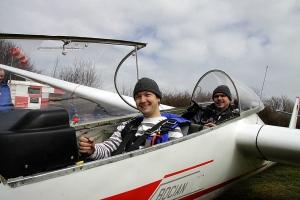 Sandro und Uwe beim Testflug