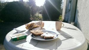 Flugplatzfrühstück.