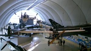 Blériot XI in der Halle der Luftfahrt-Meilensteine.