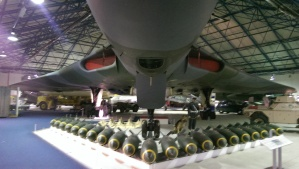 Highlight: Eine Avro Vulcan samt Bombenlast.