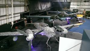 Me 110, Ju 88 und He 111.