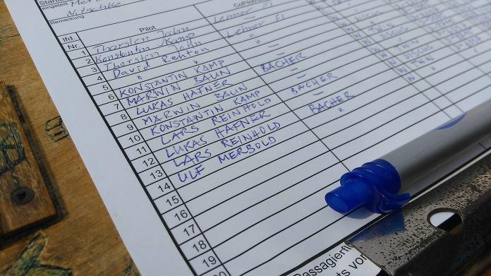Wie ein sehr berühmter Mann meinen Namen auf eine Startliste schrieb...