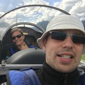 Gute Stimmung im Cockpit.