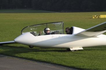 Markus nach seinem zweiten Flug - deutlich entspannter als bei der Premiere.