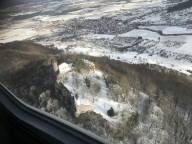 An der winterlichen Burg Teck