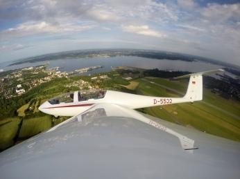 Flug in Kiel-Holtenau.