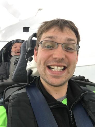 Dennoch gute Stimmung im Cockpit