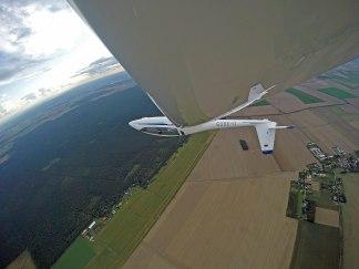Ungewöhnlicher Blick auf den Flugplatz Reinsdorf.