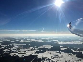 Panorama mit Sicht bis zu den Alpen.
