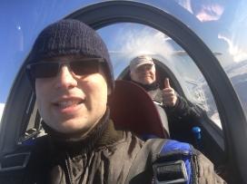 Spaß im Cockpit.