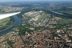 Im Bergfalke über Speyer.