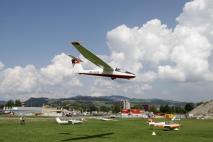 Pilatus B4 im Landeanflug.