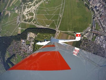 Der Flugplatz aus der Vogelperspektive.