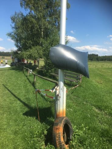 In Paterzell gibts noch den ganz ursprünglichen Windsack...