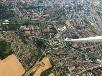 Reuß-Park, links gut zu erkennen.