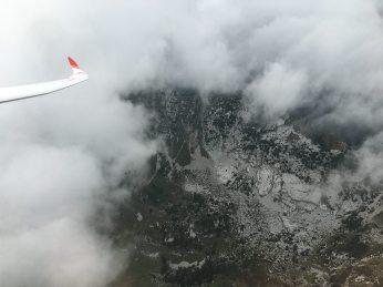 Beim Einfliegen in die Wolke kann es schnell Hackschnitzel geben.